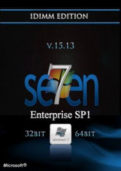 Windows 7 Enterprise SP1 IDimm Edition v.15.13 x86/x64 (2013)