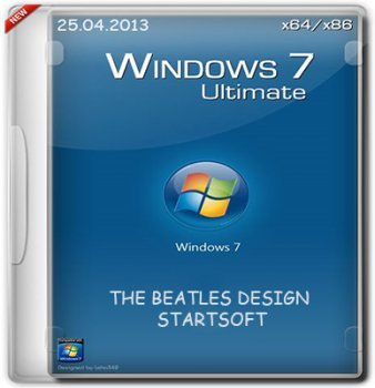 WINDOWS 7 ULTIMATE SP1 X86 X64 THE BEATLES DESIGN STARTSOFT 23-24 (2013) РУССКИЙ