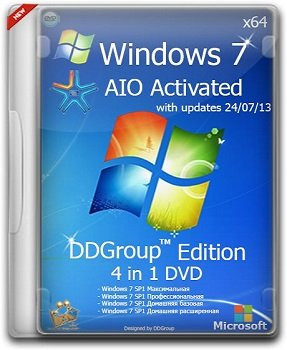 Windows 7 SP1 x64 4in1 DVD [v.24.07] DDGroup Edition AIO Activated (2013) Русский