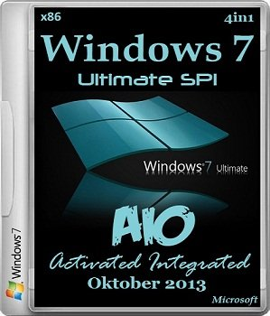 Windows 7 x86 SP1 4in1 AIO Activated Integrated Oktober (2013) �������