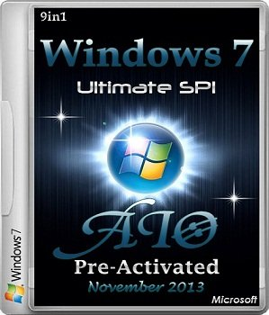Windows 7 Ultimate SP1 AIO 9in1 Pre-Activated November (2013) Русский