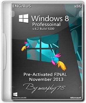 Windows 8 Professoinal x86 Pre-Activated FINAL November (2013) Русский