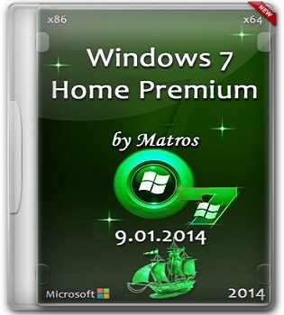 Windows 7 Home Premium SP1 (32bit+64bit) by Matros 9.01.2014 (2014) �������