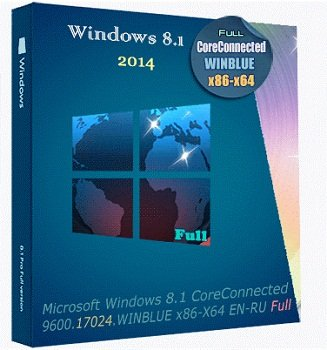 Windows 8.1 CoreConnected 6.3.9600.17024.WINBLUE x86-X64 EN-RU Full by Lopatkin (2014) Русский