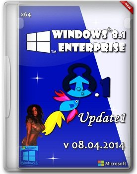 Windows 8.1 Enterprise x64 Update1 by ALEX v08.04.2014 (2014) Русский