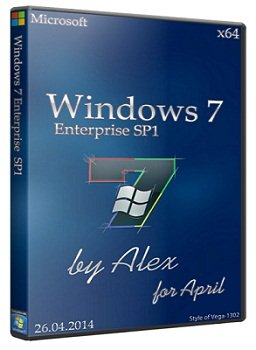 Windows 7 Enterprise x64 SP1 for April by Alex (04.2014) Русский