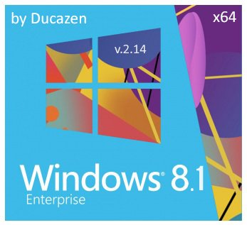 Windows 8.1 Enterprise x64 with update 9600.17085 Lightweight v.2.14 by Ducazen (2014) Rus