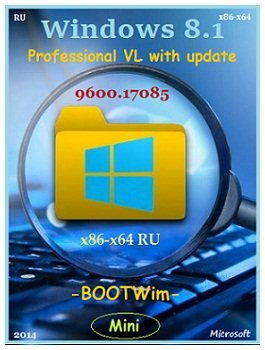 Windows 8.1 Pro VL 17085 x86+x64 Mini by Lopatkin (2014) Rus