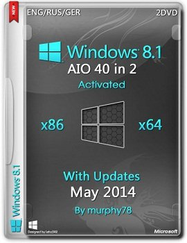 Windows 8.1 AIO 40in2 x86-x64 With Update (May 2014) GER/UKR/ENG/RUS