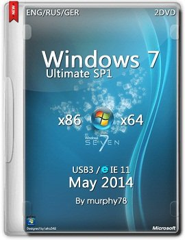 Windows 7 SP1 Ultimate x86-x64 IE11 May (2014) Rus