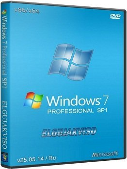 Windows 7 Professional x86-x64 SP1 Elgujakviso Edition v25.05.14 (2014) Rus