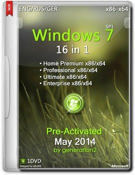 Windows 7 SP1 16in1 x86+x64 ESD Pre-Activated [May 2014] Rus