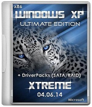 Windows XP Sp3 XTreme Ultimate Edition 04.06.14 + DriverPacks (SATA/RAID) [2014] Rus