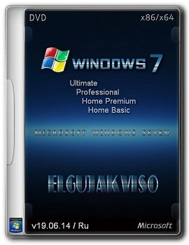 Windows 7 SP1 4in1 x86+x64 Elgujakviso Edition v19.06.14 (2014) Rus