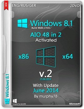 Windows 8.1 AIO 48in2 (x86-x64) With Update June 2014 v.2 [2014] Rus