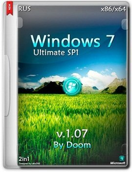 Windows 7 Ultimate x86/x64 by Doom v.1.07 (2014) Rus