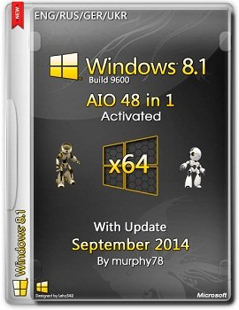 Windows 8.1 AIO 48in1 x64 With Update September by murphy78 (2014) Rus