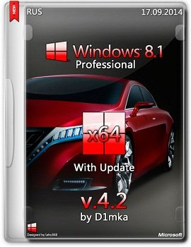 Windows 8.1 Professional x64 Update by D1mka v4.6 (2014) Rus