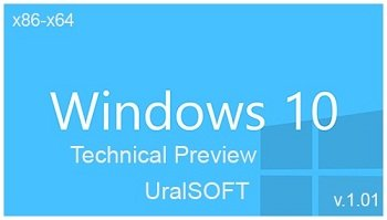 Windows 10 Technical Preview v.1.01 x86-x64 by UralSOFT (2014) Rus