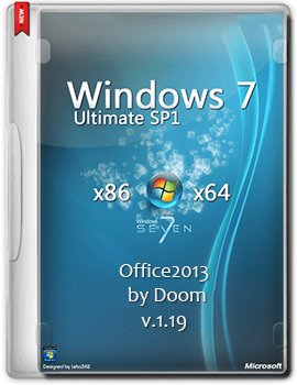 Windows 7 Ultimate Office2013 by Doom v.1.19 x86-x64 (2014) Rus