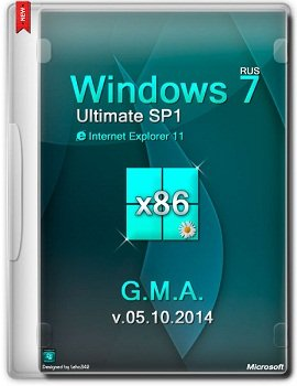 Windows 7 Ultimate x86 SP1 IE11 by G.M.A. v.05.10.14 (2014) Rus