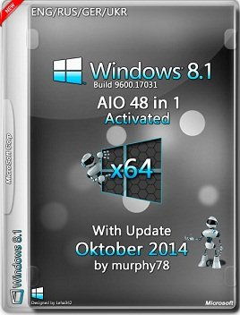 Windows 8.1 AIO 48in1 x64 With Update Oktober by murphy78 (2014) Rus