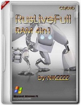 RusLiveFull RAM 4in1 x86/x64 by NIKZZZZ CD/DVD MULTI (2014) Rus
