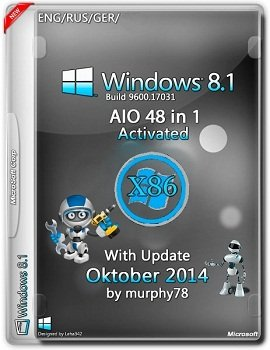 Windows 8.1 AIO 48in1 x86 With Update Oktober v.6.3.9600.17031 by murphy78 (2014) Rus