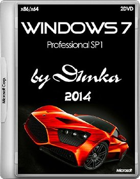 Windows 7 Professional SP1 by D1mka v5.1 v5.2 x86-x64 (2014) Rus