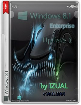 Windows 8.1 Enterprise x64 With Update by IZUAL v10.11.14 (2014) Rus