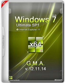 Windows 7 Ultimate x64 SP1 IE11 G.M.A. v.12.11.14 (2014) Rus