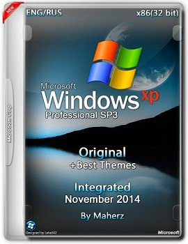 Windows XP Pro SP3 x86 Integrated November + Best Themes by Maherz (2014) Rus