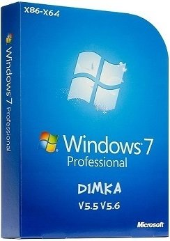 Windows 7 Professional SP1 x86-x64 2DVD by D1mka (2014) Rus