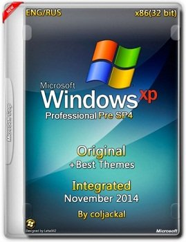Windows XP Pro Pre SP4 x86 Integrated November + Best Themes by coljackal v.5.1.2600 (2014) Rus