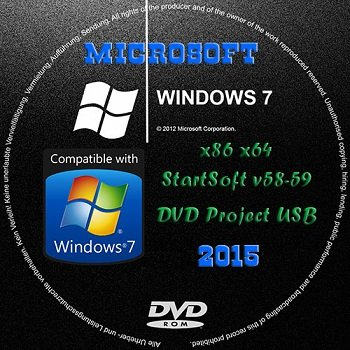 Windows 7 SP1 by StartSoft 58-59-2014 (x86/x64) (2014) [Rus]