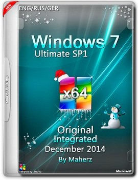 Windows 7 Ultimate SP1 x64 Integrated December v.7601 By Maherz (2014) Rus
