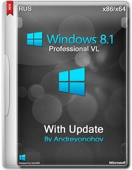Windows 8.1 Professional (x86-x64) VL with Update 3 by Andreyonohov 2DVD (2014) [Rus]