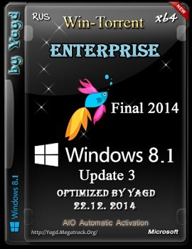 Windows 8.1 Enterprise (x64) Optimized by Yagd (v.Final-2014) [Rus]