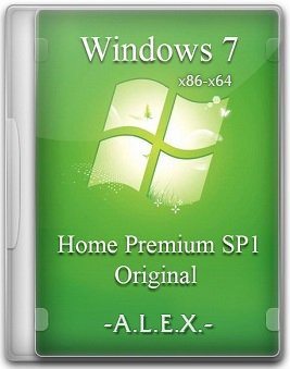 Windows 7 Home Premium SP1 (x86-x64) Original by -A.L.E.X.- (22.12.2014) [Ru/En]