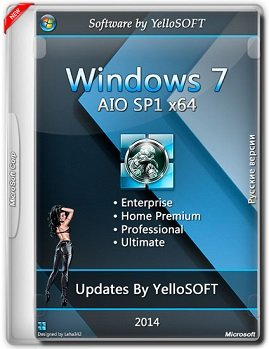 Windows 7 AIO SP1 (x64) DVD updates by YelloSOFT (2014) [Rus]