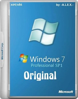 Windows 7 Professional SP1 Original by -A.L.E.X.- 23.12.2014 (x86/x64) [RUS/ENG]