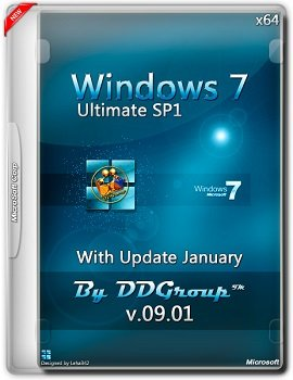 Windows 7 Ultimate SP1 x64 with Update (January) [v.09.01] by DDGroup™ [Ru]