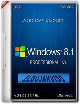 Windows 8.1 Pro (x86/x64) by Elgujakviso Edition (2015) [Ru]