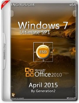Windows 7 Ultimate SP1 (x64) + Office2010 SP2 ESD April by Generation2 v.7601 (2015) [ENG/RUS/GER]