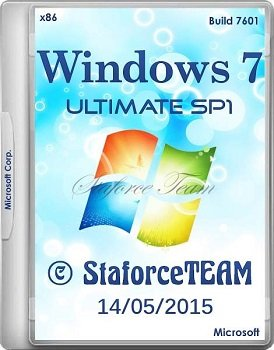 Windows 7 Build 7601 Ultimate SP1 (x86) RTM 14.05.2015 StaforceTEAM (2015) [DE/EN/RU