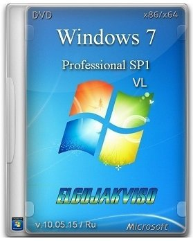 Windows 7 Professional SP1 (x86/x64) VL Elgujakviso Edition (v10.05.15) (2015) [Rus]