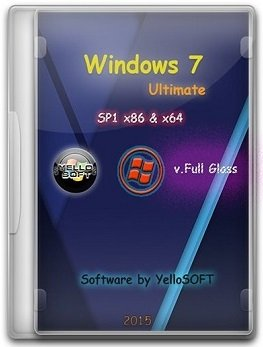 Windows 7 Ultimate SP1 (x86/x64) [v.Full Glass] by YelloSOFT (2015) [Rus]