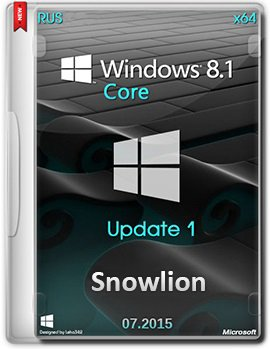 Windows 8.1 Core (x64) by Snowlion (07.2015) [Rus]