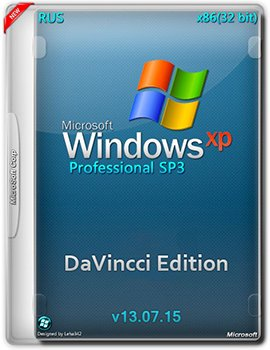 Windows XP Professional SP3 (x86) DaVincci Edition v13.07.15 (2015) [Rus]