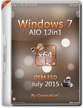 Windows 7 SP1 AIO 12in1 OEM (x64) ESD July 2015 by Generation2 (2015) [Rus/Eng/Ger]